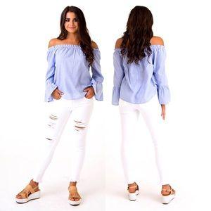 Shop Karlie Clothes Lauderdale Off Shoulder Blouse